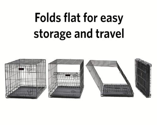 Dog Training crate folds up easily
