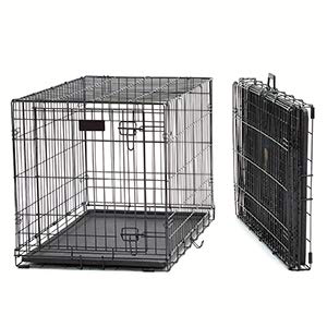 stowing can't be easier with this folding dog training crate